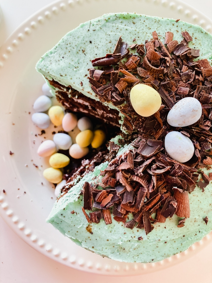 Speckled Chocolate Easter Cake
